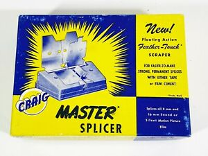 Craig Kalart Master Splicer for all 8 mm & 16 mm Sound or Silent Picture Films