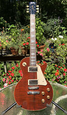 Burny LP Standard Style Red Flametop Electric Guitar w/ Gibson Pickups
