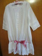 Antique Victorian Little Girls Dress Embroidered Lawn Cotton