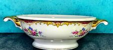 Vintage RM Czechoslovakia Floral Pattern Serving Bowl With Handles Bohemian