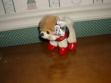 "GUND 5"" PLUSH BOO WITH RAIN BOOTS AND HARNESS-NEW"