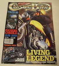 Moto clásica 5/95 Honda Cb450, Ajs Modelo 14, Moto guzzu Lodola, Triumph Legend
