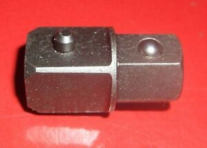 Apex 1/2 Drive Square to 1/2 Hex Coupler Adapter A516 Hexagon Joiner SQ DR Male