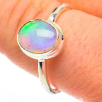 Ethiopian Opal 925 Sterling Silver Ring Size 10 Ana Co Jewelry R61244F