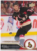 14-15 Upper Deck Kyle Turris /10 HG UD Exclusives High Gloss Senators 2014