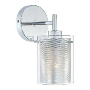 George Kovacs P962-077 Chrome 1-Light Wall Sconce From The Grid Ii Collection