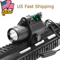 US Red/Green Laser Sight + CREE Q5 LED Flashlight Combo for 20mm Picatinny Rail