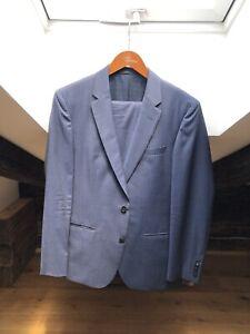 Hugo Boss Tailored Nadelstreifenanzug - TOP Zustand - Blau - Mit Kleidersack