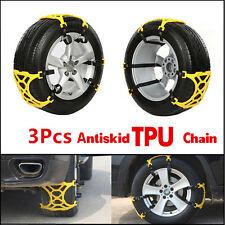 3Pcs Car Truck Snow Ics Wheel Tyre Tire Antiskid Chains Slip Thickened Tendon