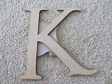 "NWT ArtMinds Phase 2 Unfinished Wood Laser Cut Single 4"" Letter ""k""!"