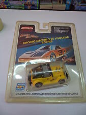 MARCHON 22171 YELLOW JEEP SLOT CAR HO MR1 RACING - FALLER - TYCO - FAMOPLAY