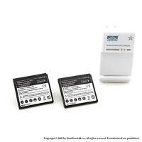 2 x 1800mah Battery for HTC Raider 4G X710E Rhyme Vivid G19 G20 Charger