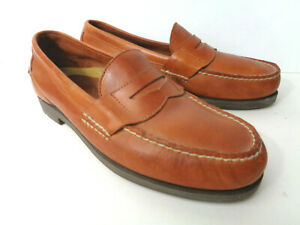 SPERRY TOP SIDER Mens 10M Brown Leather Penny Loafer Shoes 0777236