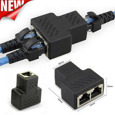 1 to 2 Port LAN ethernet Network RJ45 Splitter Extender Plug Adapter Connector
