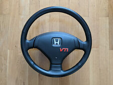 Rare Honda Leather Steering Wheel Civic EG6 VTi SiR B16 B18 VTEC DOHC JDM No SRS