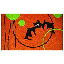 "Halloween Doormat ""Bat"" Coir Large 30"" x 18"" Porch Entry Way by Robert Allen New"