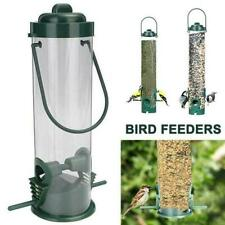 Durable Hanging Wild Bird Feeder Seed Container Hanger Garden Outdoor H9J5