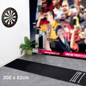 Black Professional Rubber Darts Dart Mat Board Pub Club Home 4Throwing Distances