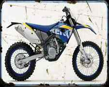 HUSABERG fe 570 10 A4 Metal Sign moto antigua añejada De