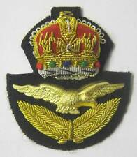 RAF Cap Badge Officer WW2 WWII Hat & Eagle Kings Crown Royal Air Force KC New