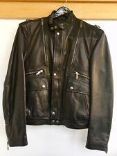ralph lauren purple label Motorcycle Leather Jacket In Luxurious Italian Lea