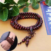 Necklace Buddhist Buddha Meditation 108 Prayer Bead Sandalwoo Bracelet P2S9 X0P4