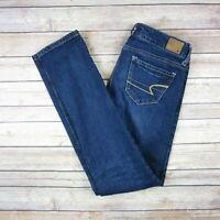 AMERICAN EAGLE Women's Skinny Jeans Sz 0 Regular Blue Denim Pants