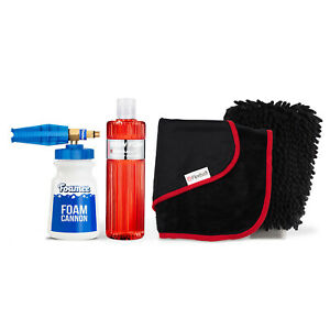 Foamee Snow Foam Lance Cannon Detergent Wash Mitt and Drying Towel Bundle
