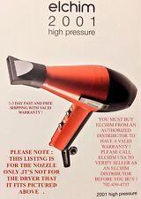 ELCHIM 2001 PROFESSIONAL BK/RED SALON DRYER (NOZZLE ONLY ) FITS # 836793002149
