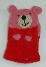 Two's Company - Kids Mittens - Teddy Bear - Pink
