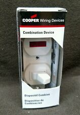 Cooper 277W-BOX Combination 1-Pole Switch and Pilot Light 15A 120V White