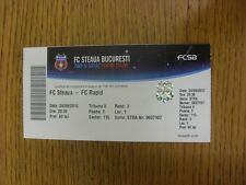 24/09/2012 Ticket: FC Steaua v FC Rapid (folded). Any faults with this item have