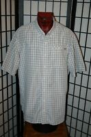 EDDIE BAUER NYLON/POLYESTER SHORT SLEEVE CASUAL SHIRT MENS SIZE TXL XL TALL