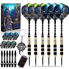 Whimlets Steel Tip Darts Set - Professional Darts Set 6 Pack 20 Grams
