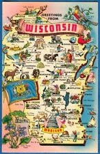 State Map, Greetings From Wisconsin
