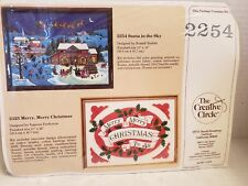 THE CREATIVE CIRCLE 2325 MERRY MERRY CHRISTMAS TO ALL EMBROIDERY KIT NEW