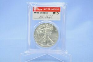 USA 1 Dollar 2014 S American Eagle First Strike Miles Standish PCGS  MS 70