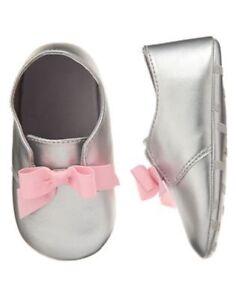 NWT Gymboree Hoot & Hop Bow Crib Shoes Dress Baby Girl Infant 2