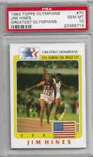 RAREST 1983 TOPPS OLYMPIANS JIM HINES CARD #70 ~ PSA 10 ~ POP 1 ~THE FASTEST MAN