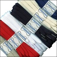 Strong Flat 9 mm wide Shoelaces for casual shoes and trainers