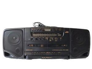 Vintage JVC AM FM /Dual Cassette Dubbing /CD player Boombox Stereo model PC-X95