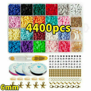 1 Set DIY Flat Polymer Clay Beads Spacer for Bracelets Jewelry Decor Making UK/