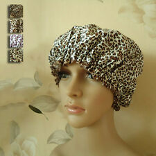 New Woman's Shower Hat Reusable Bathing Leopard Hat Elastic SPA Cap Waterproof