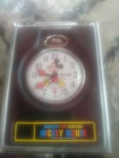 Disney Mickey Mouse Mechanical Pocket Watch by Bradley with original case