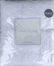 SFERRA King LINEA CASA Pure White Embossed Matelasse Floral Coverlet Blanket