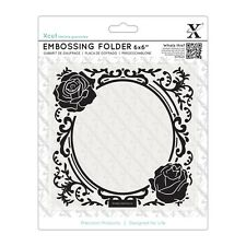 "ROSE FRAME - 6""x6"" Embossing Folder - Xcut / Docrafts"