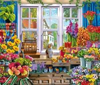 Wentworth Wooden Jigsaw Puzzle - Flower Shop - 40 Pieces NEW