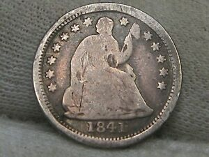 1841-o Better Date Seated LIBERTY Half Dime. #6