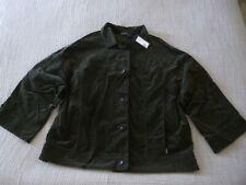 """NWT OSKA """"Haru"""" Velvet Look L/Sleeve Jeans Style Jacket - size 4 16/18UK RRP£289"""
