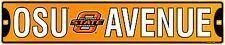 "Oklahoma State University OSU Ave 24"" x 5"" Embossed Metal Street Sign"